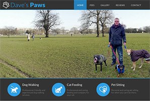 Content managed web site design and build for Dave's Paws