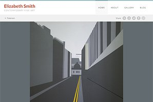 Web site for contemporary fine artist Elizabeth Smith