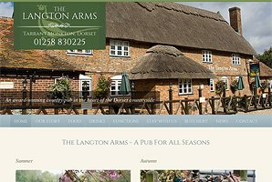 Web site design for award-winning rural pub in Dorset