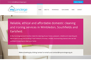 Bespoke CMS web site design and build for MyConcierge
