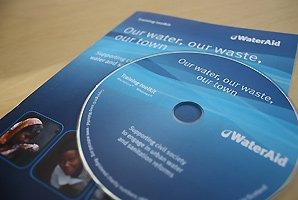 Brochure and CD-ROM training materials for WaterAid UK