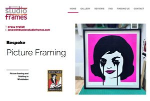Bespoke CMS web site design and build for local bespoke picture framer